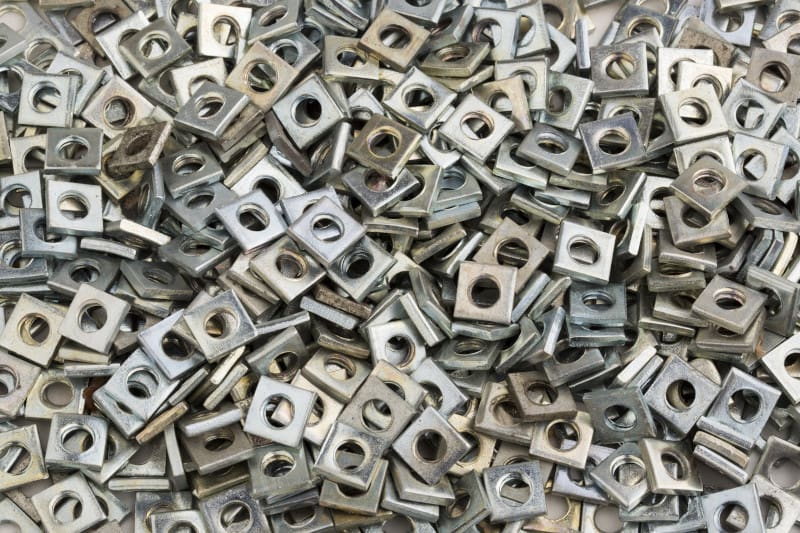 Small square metal plated parts barrel plating